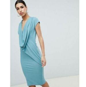 ASOS DESIGN Front Drape Dress - US Size 6